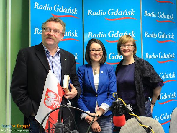 Kasia z Ruszaj w Drogę, Stanisław Sikora i Beata Szewczyk w Radio Gdańsk