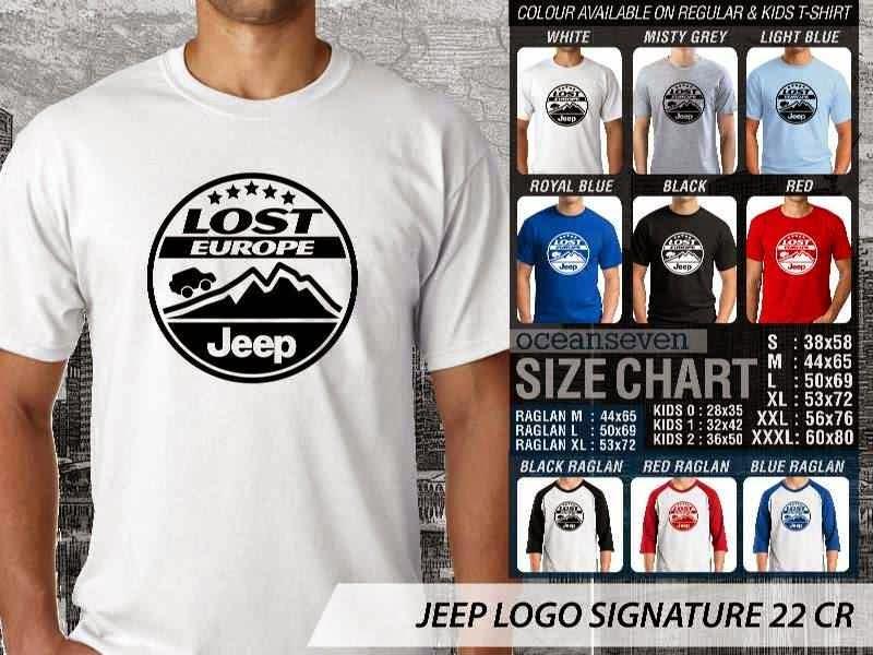 jual kaos jeep Logo Signature 22 distro