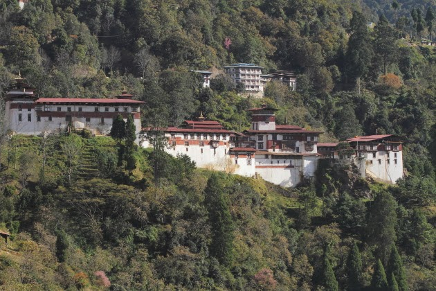 The mighty Trongsa Dzong - the largest Dzong of Bhutan