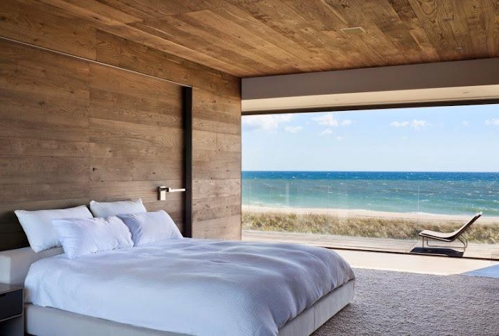 luxus schlafzimmer ausblick auf meer