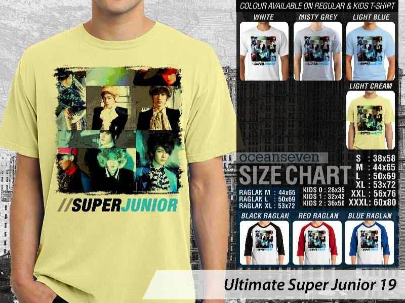 Kaos K Pop SUJU Ultimate Super Junior 19 Boy Band Asal Korea distro ocean seven