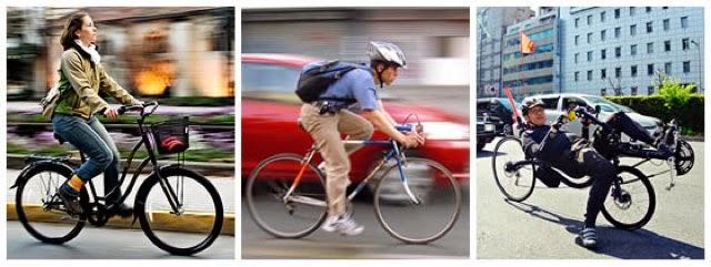 La postura en la bicicleta
