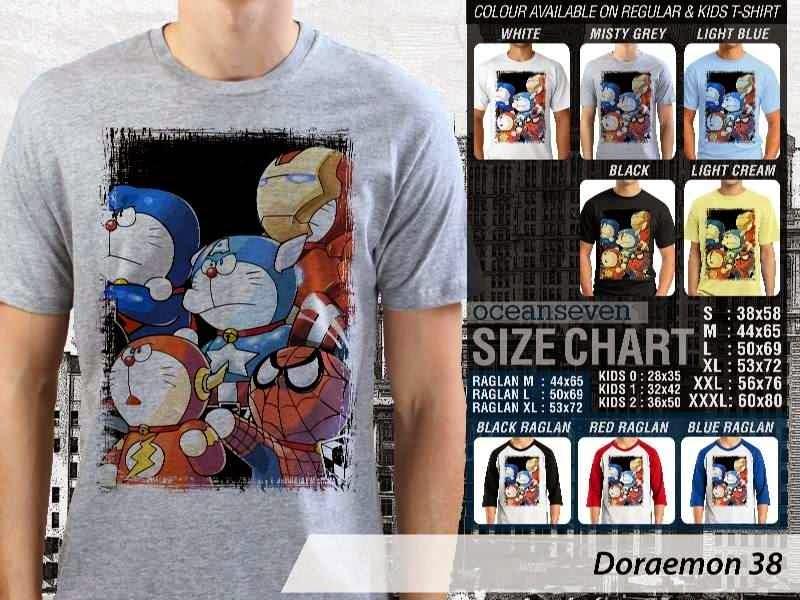 KAOS Doraemon 38 Manga Lucu distro ocean seven