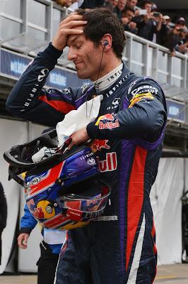 Марк Уэббер фэйспалмит на Гран-при Австралии 2013