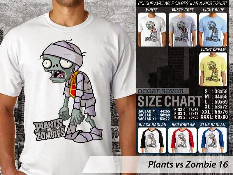 KAOS Plants VS Zombie pvz 16 Game Lucu distro ocean seven