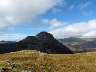 Looking back to Tryfan
