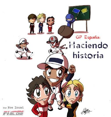 анимешная картинка Noe Izumi по Гран-при Испании 2012