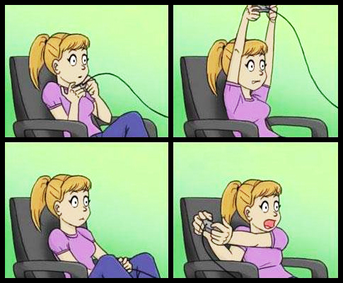 jogandovideogame Sua irmã jogando videogame