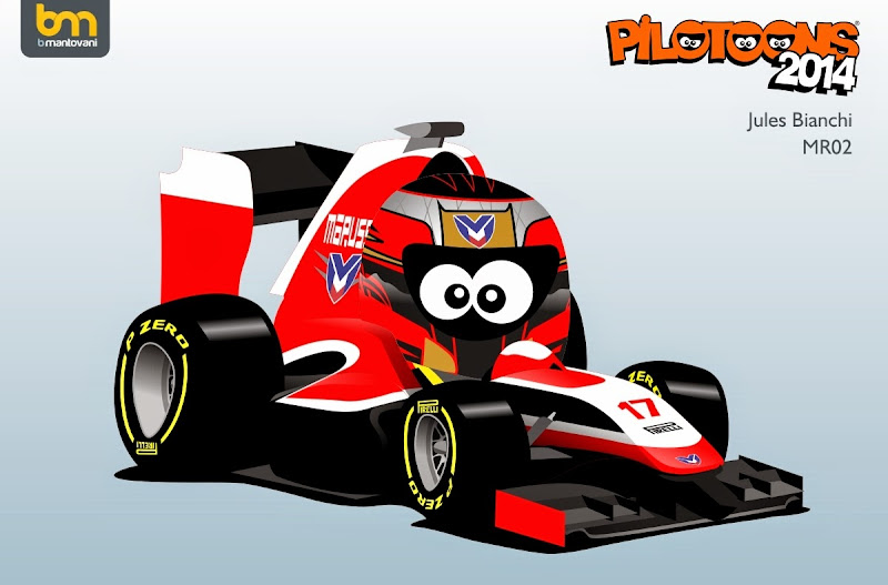Жюль Бьянки Marussia MR02 - комикс pilotoons