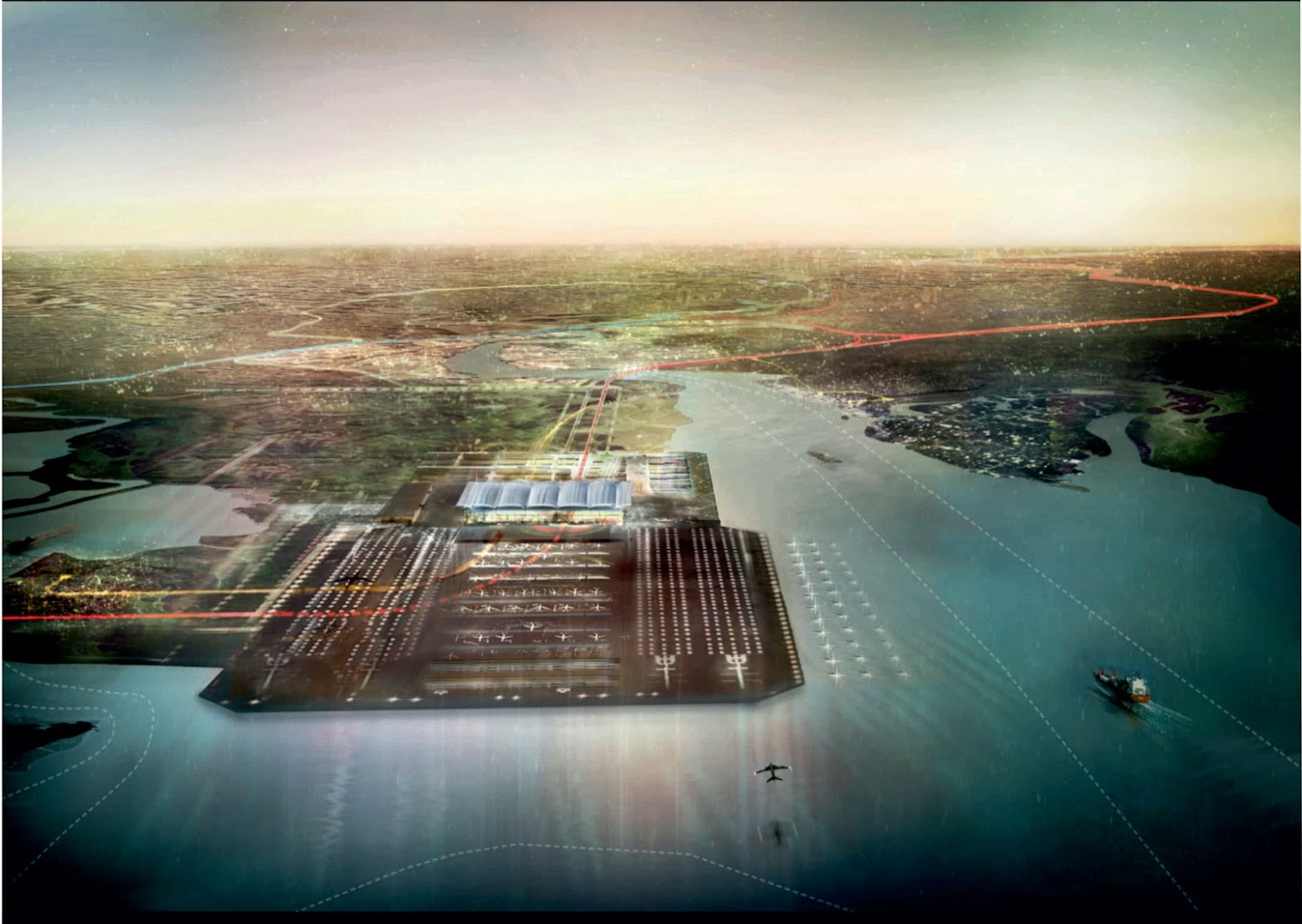 Londra, Regno Unito: [THAMES HUB BY FOSTER + PARTNERS]