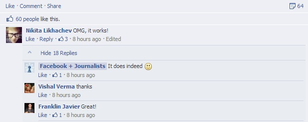 threaded comments FB
