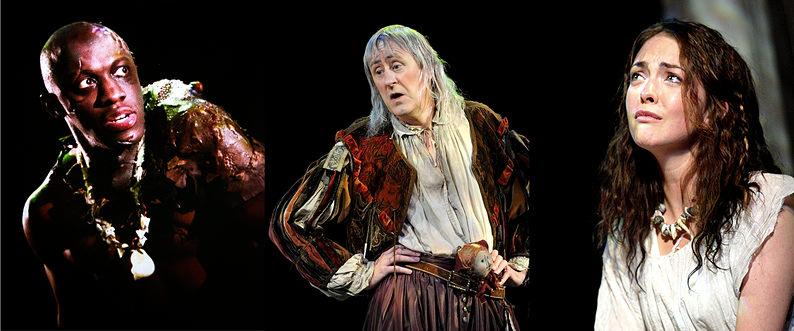 The Tempest Secondary Roles: Giles Terera as Caliban, Nicholas Lyndhurst as Trinculo and Elisabeth Hopper as Miranda