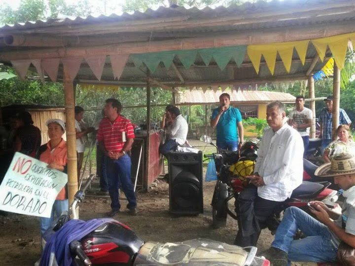 No rotundo de las comunidades del Ariari a la explotación petrolera