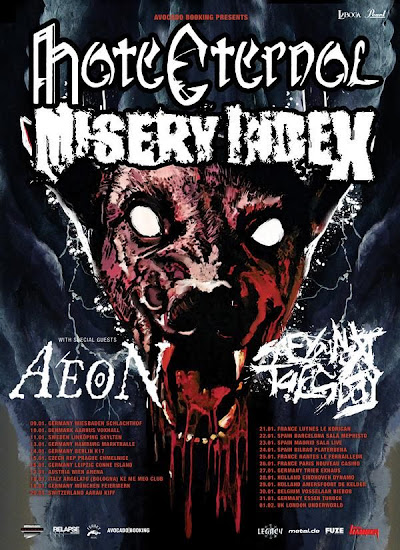 Misery Index / Hate Eternal / Aeon / See You Next Tuesday @ Nouveau Casino, Paris 26/01/2009
