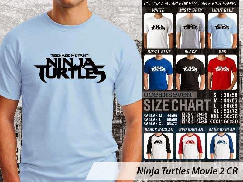 Kaos Movie Film Ninja Turtles Movie 2 distro ocean seven