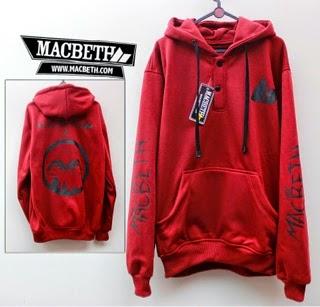 Jaket Macbeth 06 Ava Merah Logo Hitam