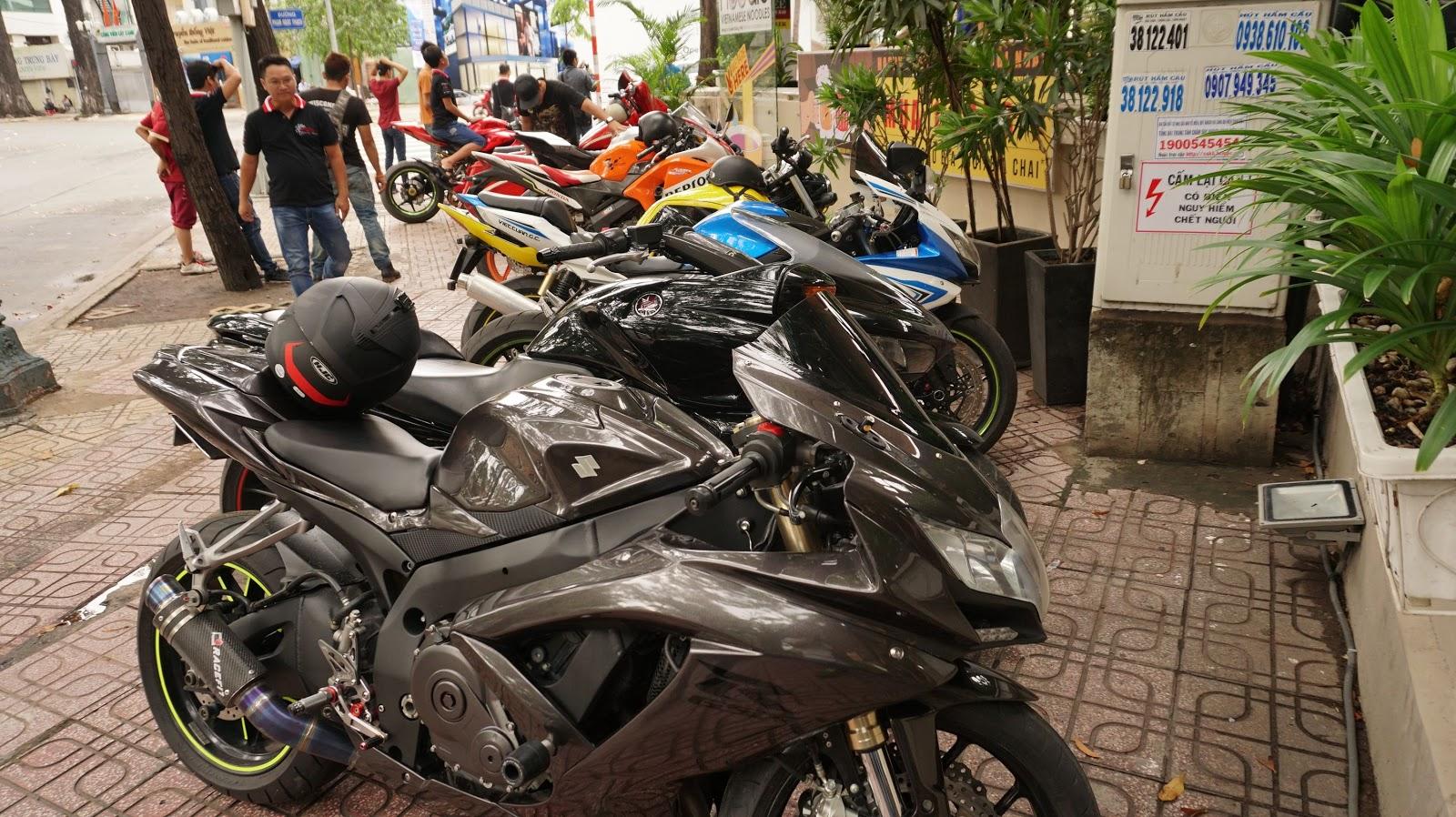 Dàn siêu mô tô của các thành viên CLB Mô hình tĩnh Việt Nam