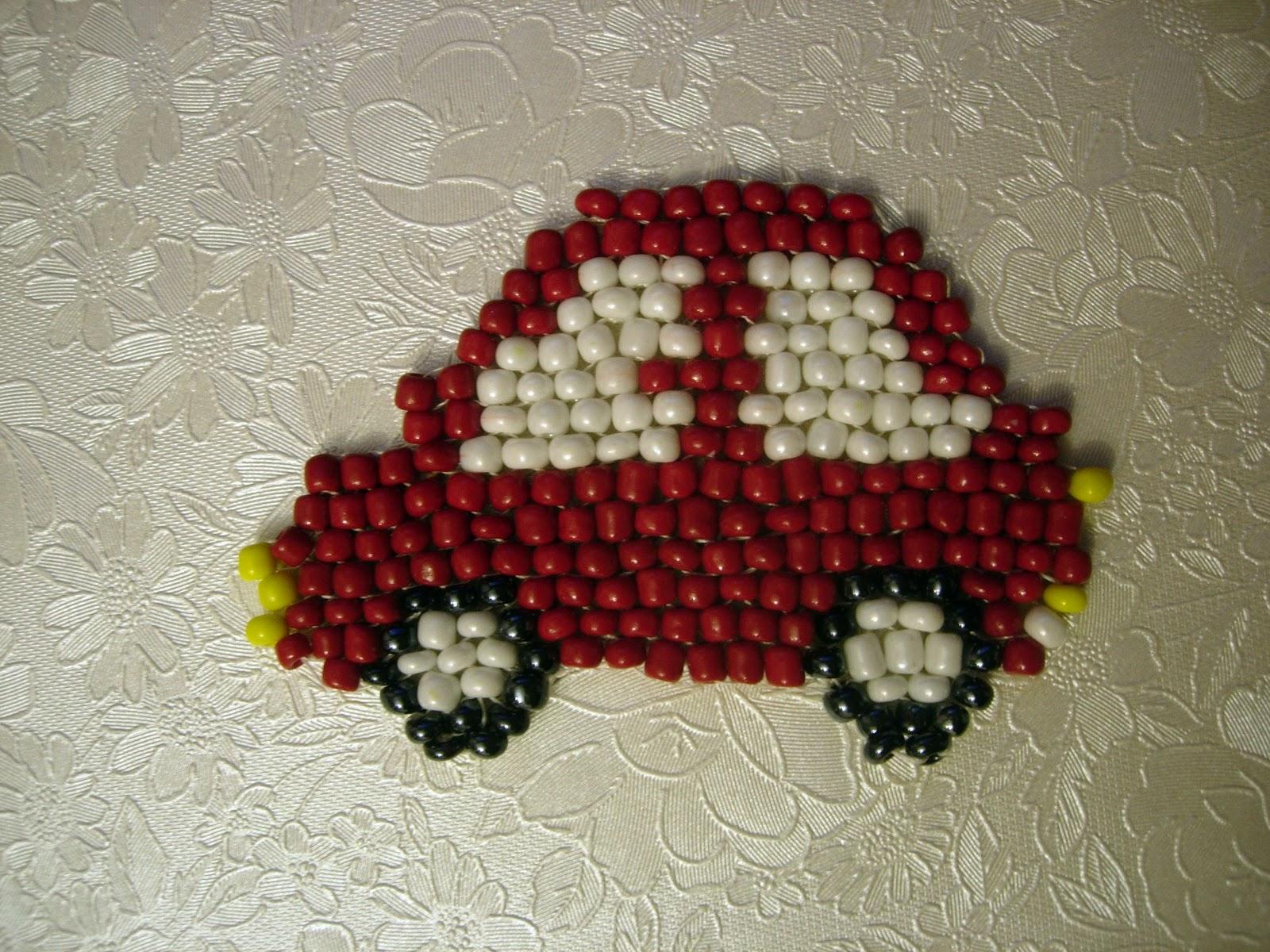 Как сделать маленькую машину из бисера