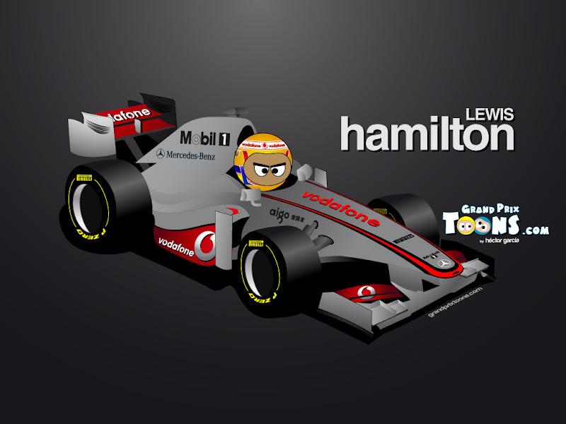 Льюис Хэмилтон McLaren MP4-27 2012 Grand Prix Toons
