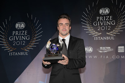Фернандо Алонсо на FIA Gala Prize Giving 2012 в Истамбуле
