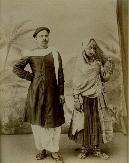 Marwaree Couple -  Bombay (Mumbai) - 1875