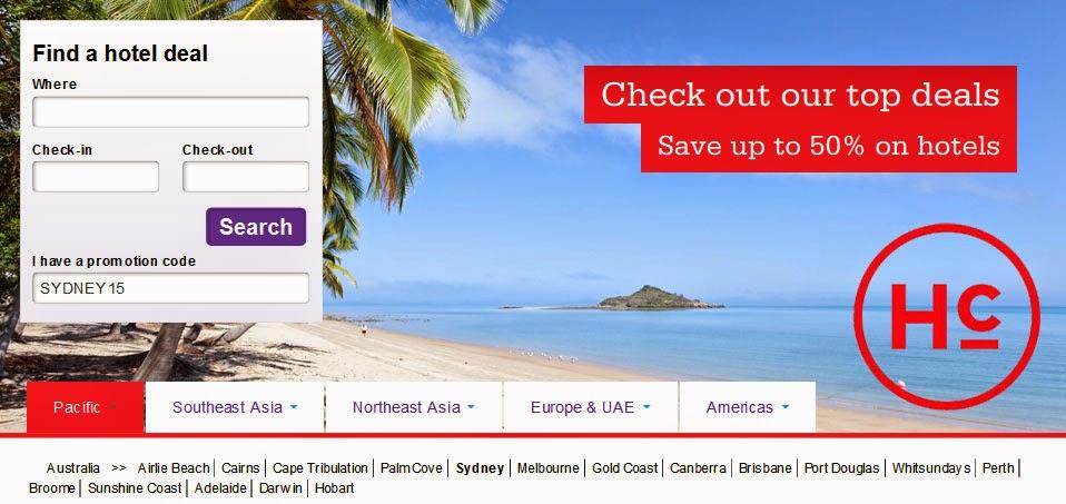 HotelClub澳洲酒店促銷,低至5折,悉尼酒店仲可用折扣碼再85折,只限7日!