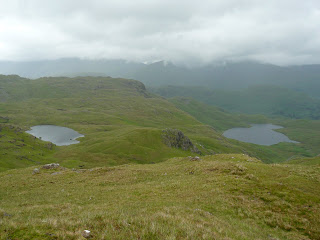 Codale and Easedale Tarns from the ridge to Blea Rigg