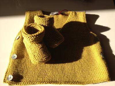 débardeur modèle simplissime Pure laine CITRONILLE tisane