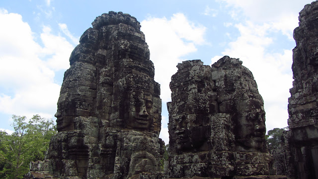 The smiling faces of Bayon.