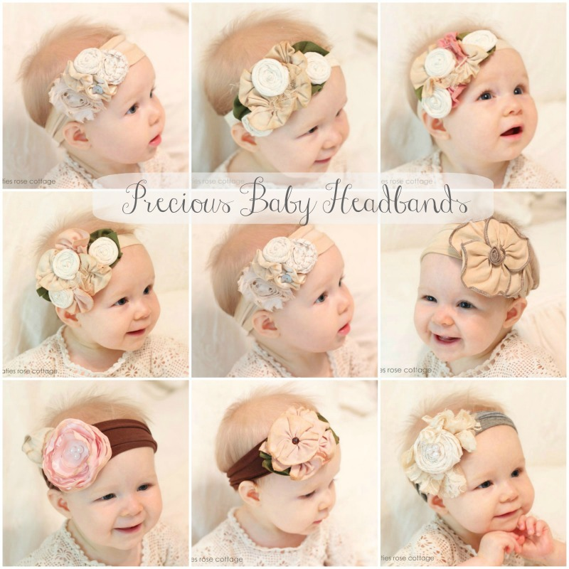 New Vintage Style Baby Headbands