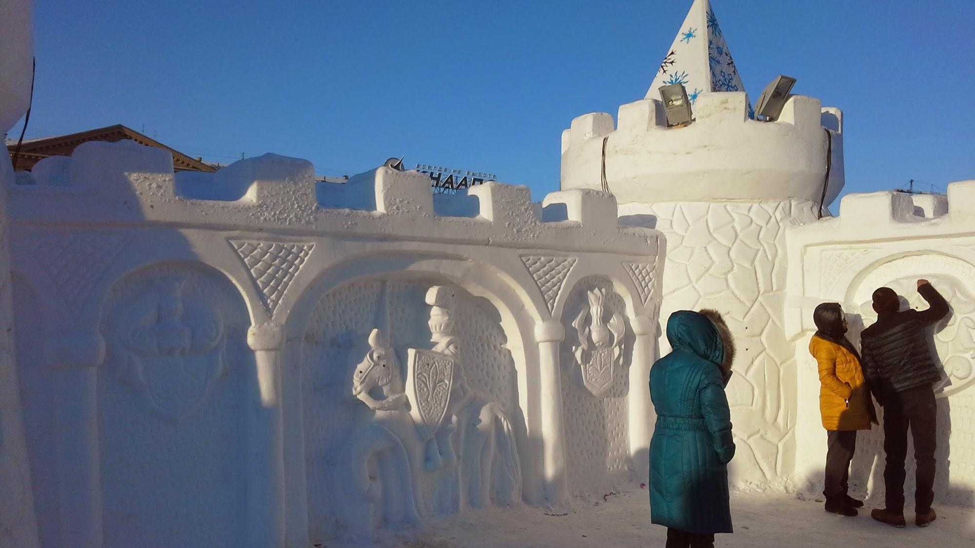 Ледовая скульптура Хабаровска - 2