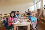 Lunch in our preschool classroom is a fun, social time for the children!
