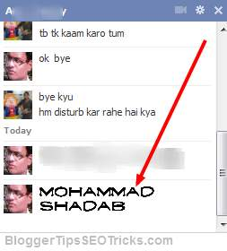 change the font in Facebook chat