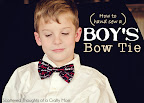 Boy's Bow Tie Tutorial