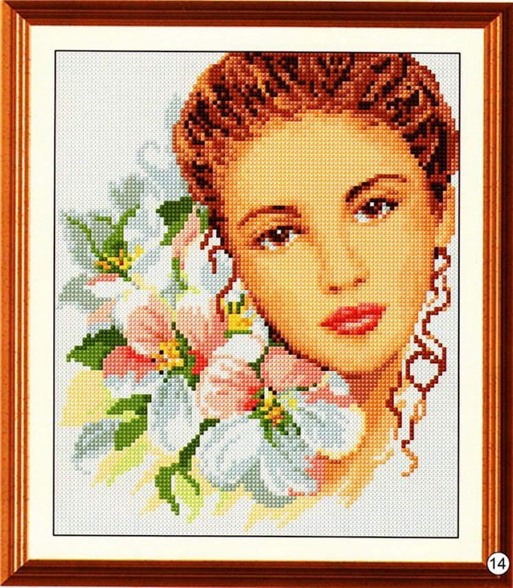 Вышивка крестом портреты 97