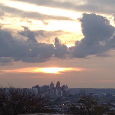 Cincinnati cloudy sunrise
