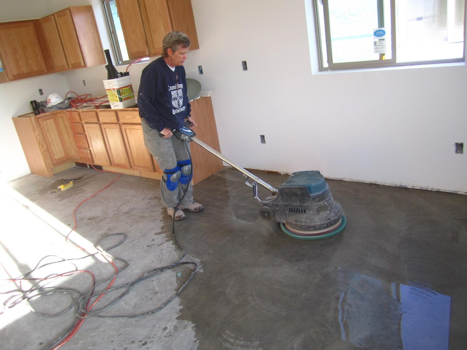 Полировка бетонного пола своими руками