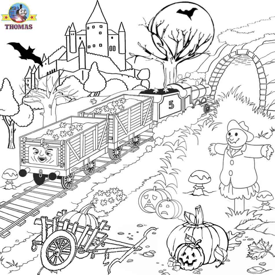 scary halloween coloring pages printables - 5 Halloween Coloring Pages on Pinterest Halloween