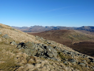 Scafell Pike range from ascent of Whitfell