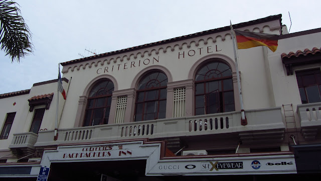 The old Spanish Mission style Criterion Hotel, which is now run as a backpackers' hostel.