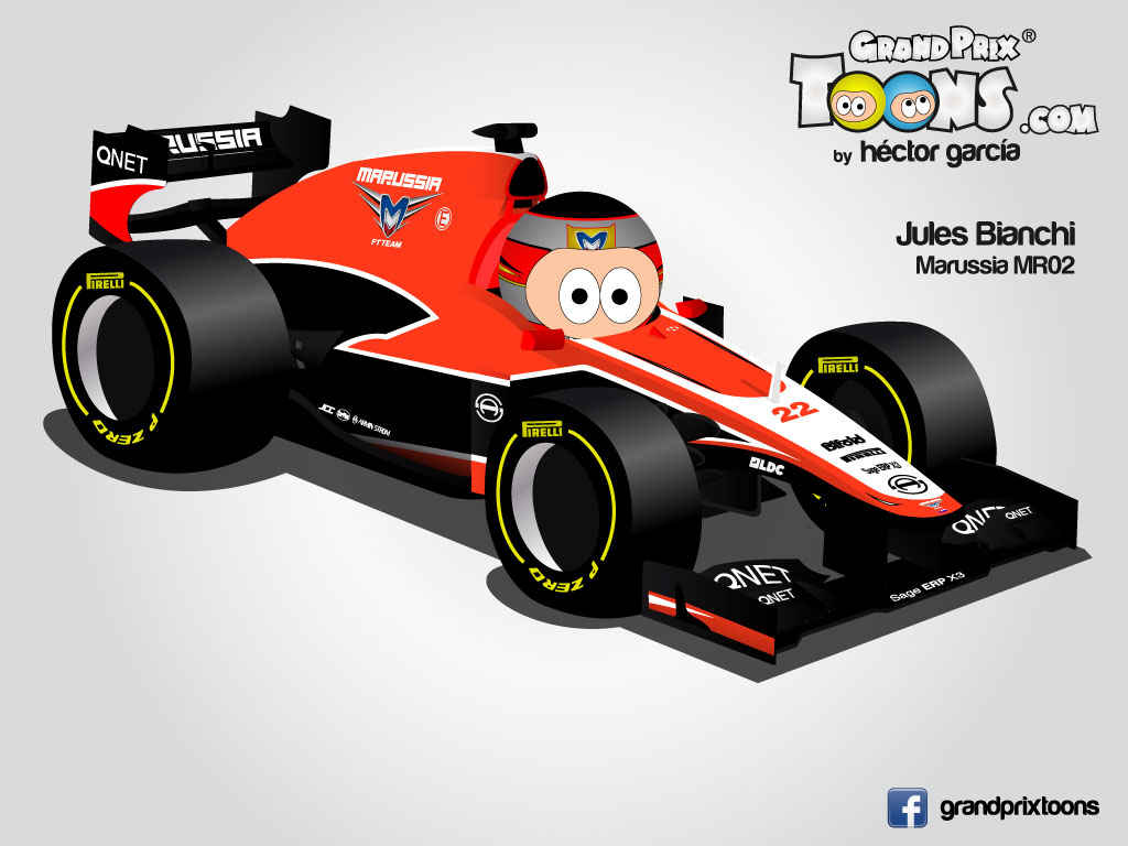 Жюль Бьянки Marussia MR02 Grand Prix Toons 2013