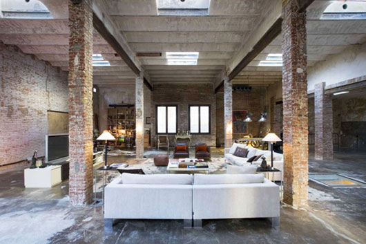 modern rustic home interior warehouse conversion in