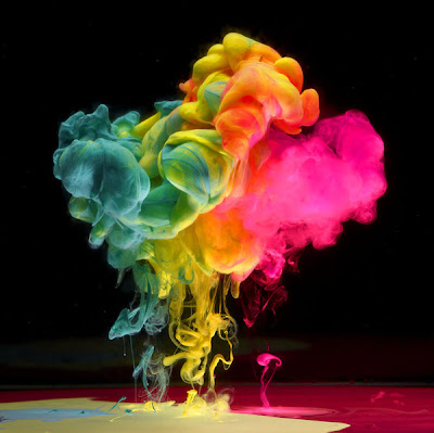 Aqueous Fluoreau: Paint Dropped In Water by Mark Mawson Seen On www.coolpicturegallery.us