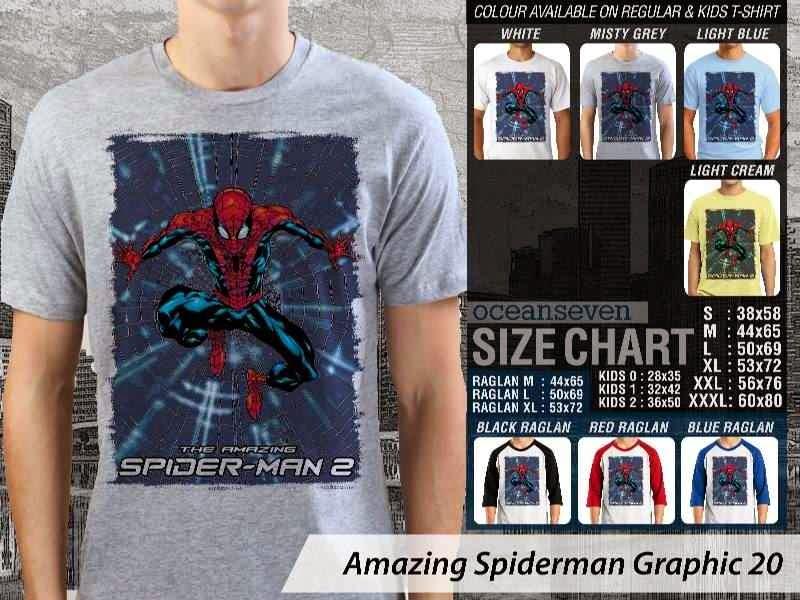 Kaos Film Superhero Amazing Spiderman Graphic 20 distro ocean seven