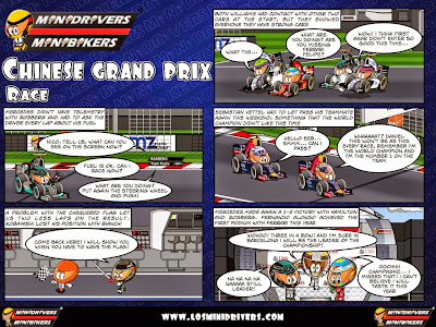 комикс MiniDrivers по гонке на Гран-при Китая 2014