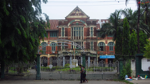 Minister's Building - former seat of British power and location where General Aung San was assassinated in 1947.