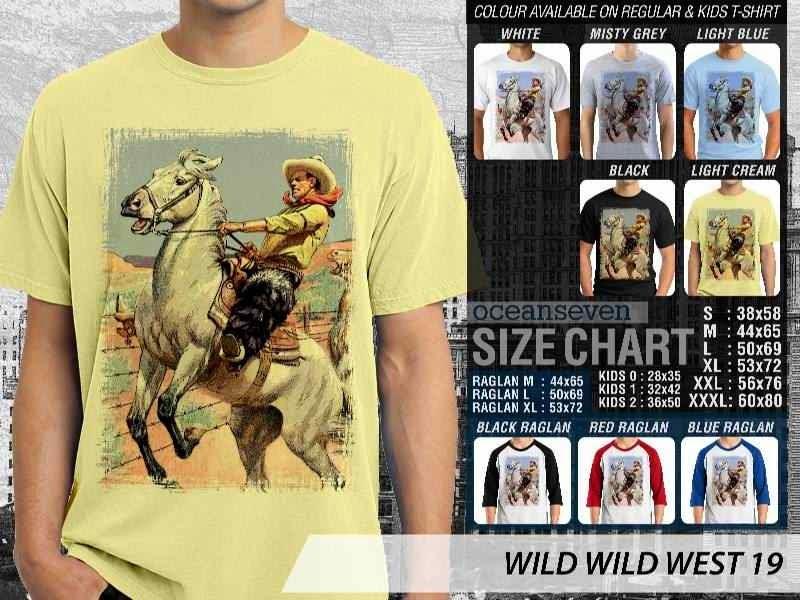 Kaos Cowboy Americana 19 Wild West distro ocean seven
