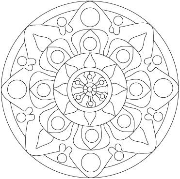Mandala tib tain colorier - Mandala amour ...