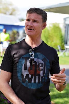Дэвид Култхард в футболке The Who на Гран-при Австралии 2013
