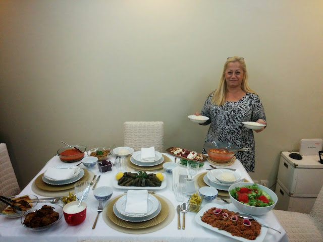 Delicious Turkish Food at a local house